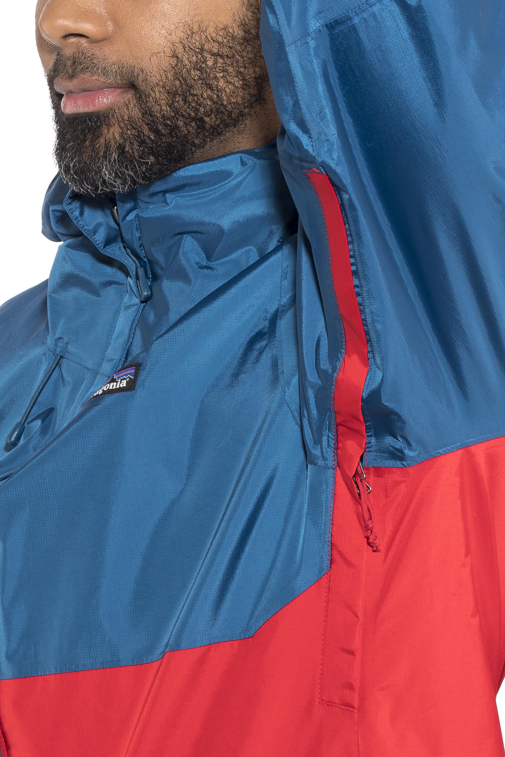 3b7f720d Patagonia Torrentshell Jacket Herren big sur blue w/fire red | campz.at